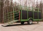 Прицепы для перевозки скота Kurier 6 и 10